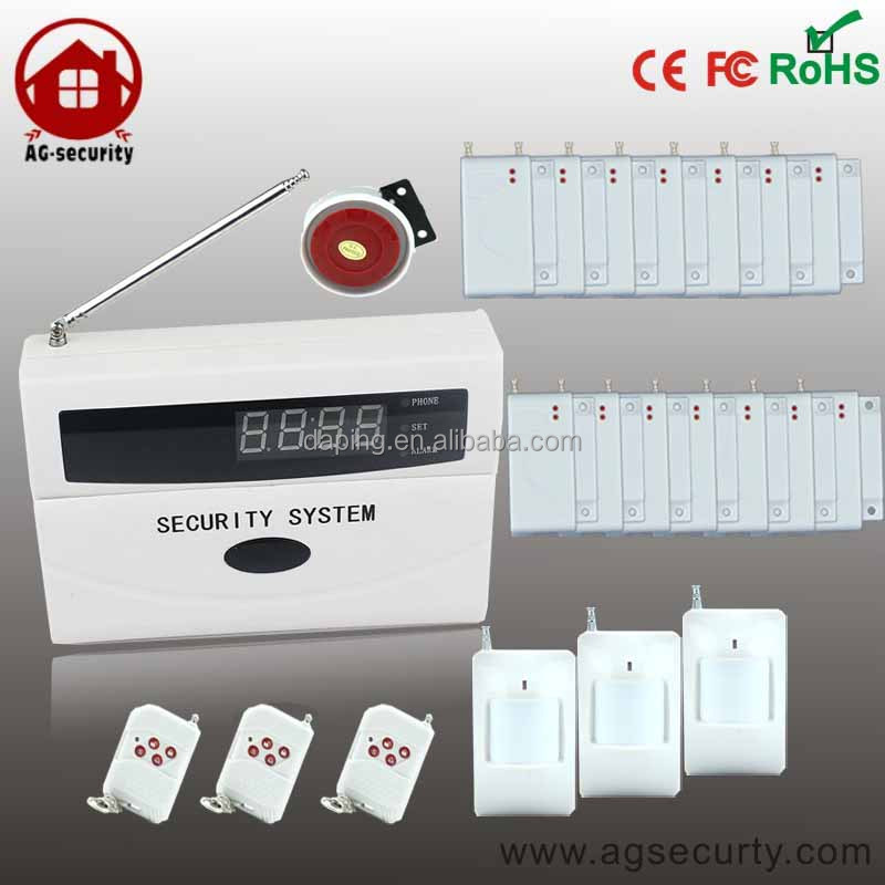 GSM SMS LCD screen Home Burglar Security Alarm System Detector Sensor shop alarm security