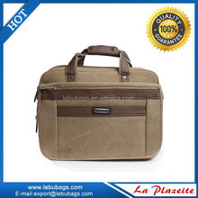Canvas durable leather briefcase for lawyer