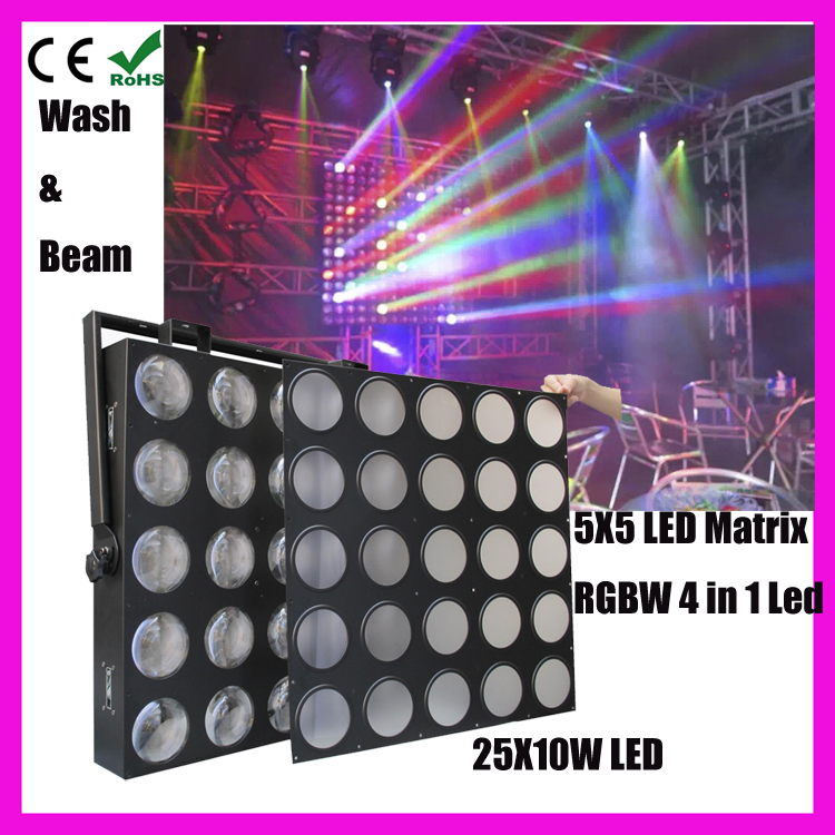 Concert light 3in1 disco 750w 5x5 matrix 10w led led disco project light