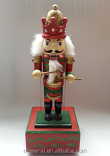Wooden painted nutcracker decoration
