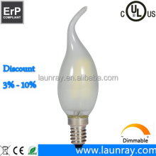 Glass Electric Bulb Retro Filament Led Candle Lamp E14 E12 B15D E27 B22 Dimmable 4W 1800K 2200K 2700K 3000K Lightings