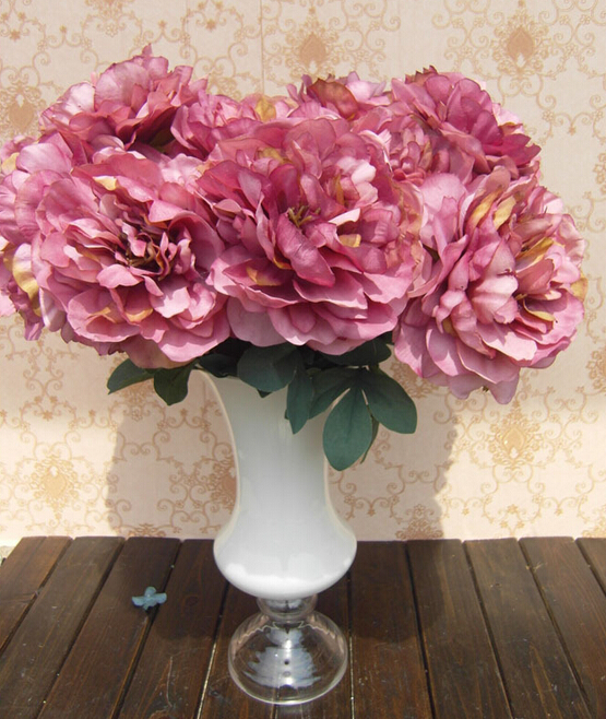 GNW FL-PE55-7-18CM Wholesale Chinese Feature Silk Artificial Flower Peony