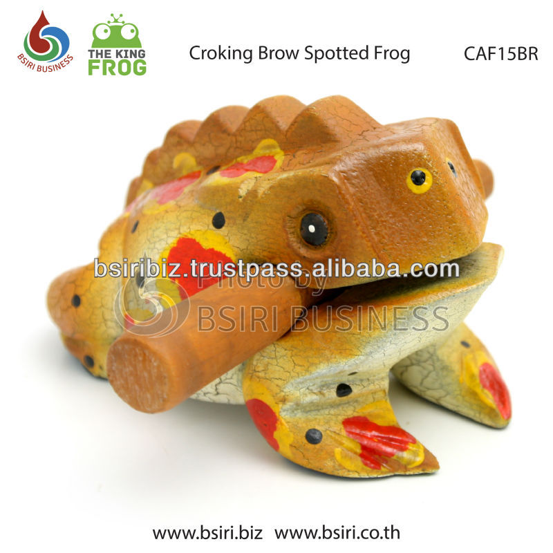 croaking frogs brown color musical instruments
