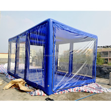 High quality 6M*4M*3M PVC Tarpaulin inflatable Car Cover/ Car Capsule for sale