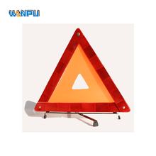 Universal CE reflective rodeway 43cm Safety LED car warning triangle