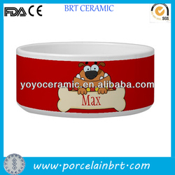good wholesale ceramic cartoon promotion dog bowl