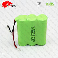 Rechargeable 3.6V AA 1800mAh Ni-Mh battery pack