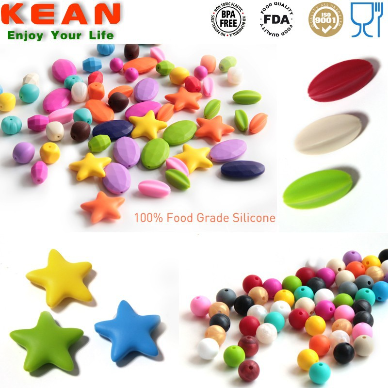 Silicone chewable diamond style heat beads china beads factory