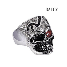 DAICY factory custom cheap high quality 316L stainless steel skull ring jewelry