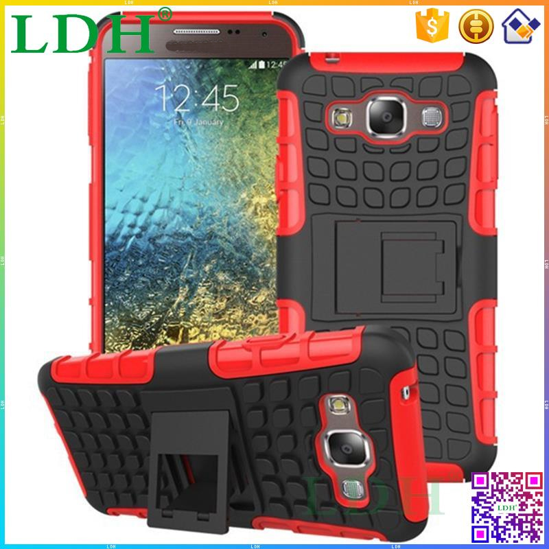 Wholesale Fancy Cell phone Case Cover for Samsung Galaxy E5 E500, TPU+PC Hybrid Hard Phone Case Cover for Samsung Galaxy E5