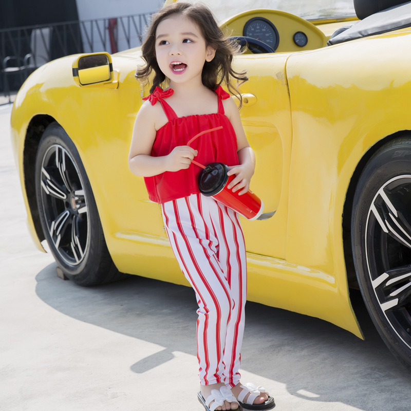 Taobao Red White Striped Children Clothing Girls Clothes Set To Buy Online
