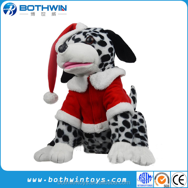 Christmas dog battery operated animal electric plush toy
