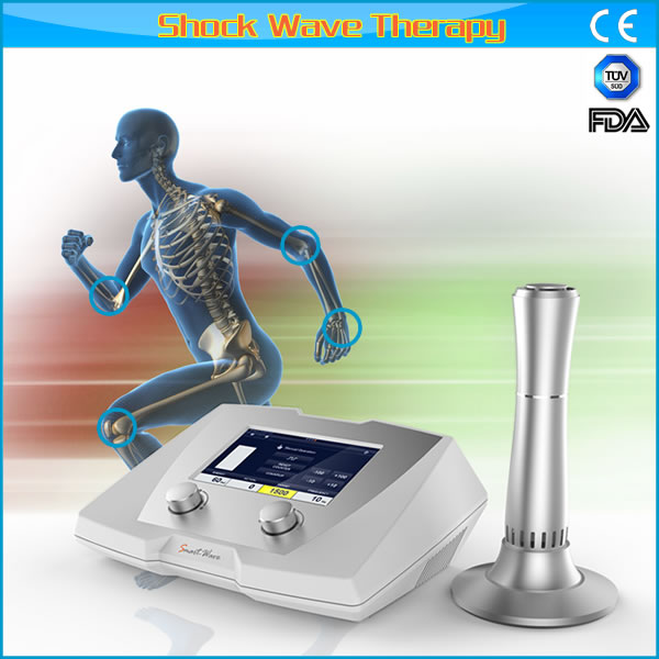 Hot shockwave machine for physiotherapy