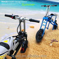 Merry Christmas price CWK Wholesale Easy to carry folding Foldable chinese electric bike mini portable electric scooter