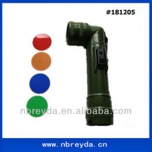 Angle Torch /Flashlight with 4 pcs Colorful Lens