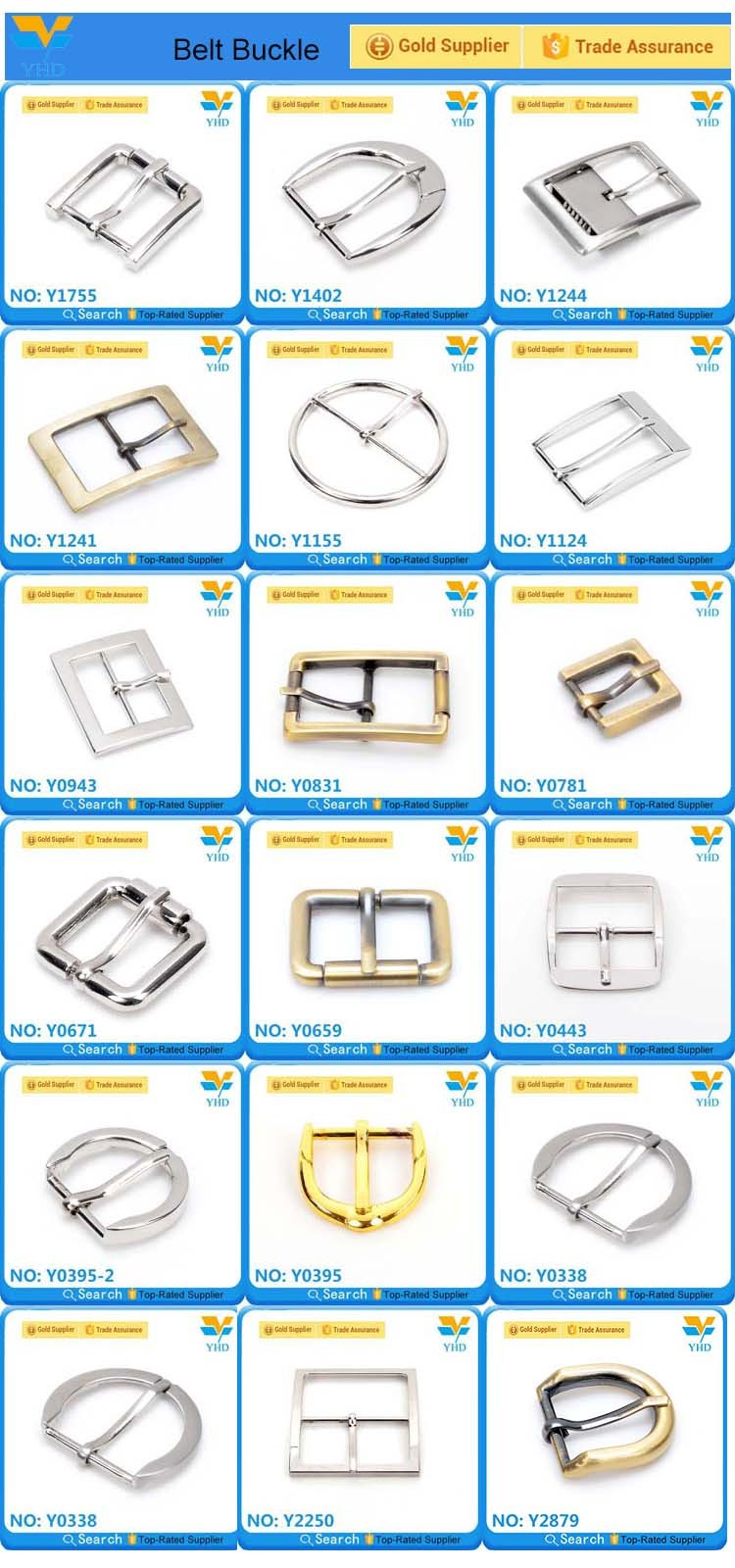 2017 new product fashion custom gold adjustable watch strap buckle