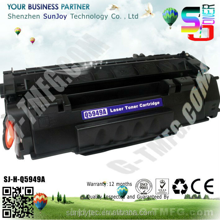Sunjoy Excellent printing quality Q5949A toner cartridge 49A for hp Laser printer 1160 1320 3390 3392