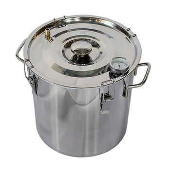 10L/3Gallon Home Brew Equipment Stainless Steel Fermenter DIY Beer Brewing Vessel With Thermometer
