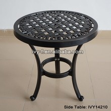 outdoor furniture cast aluminum small round side table assembly side table #IVY14210
