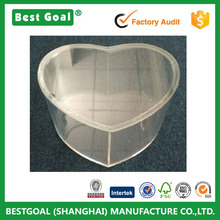 Home Decoration High Quality Heart Shape Clear Acrylic Gift Box