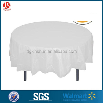 Table Cloth Factory White Round PlasticTable Cloth For Sale