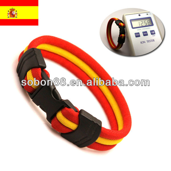 color combination red/yellow/red 7.5'' spain national flag bracelet
