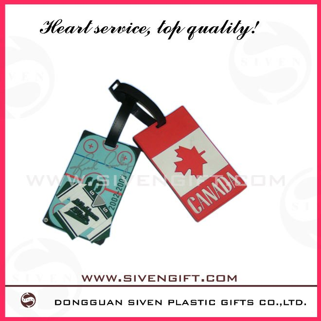 Plastic reusable business card luggage tag
