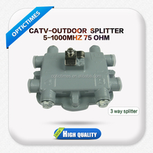 Alibaba express 5-1000MHZ CATV-OUTDOOR fiber optic 3 way cable tv splitter and tap