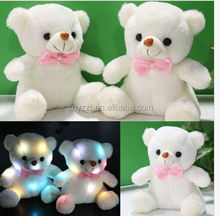 Cute Stuffed Night Light Plush Lovely Holiday Teddy Bear Soft Gift Doll Baby Toy