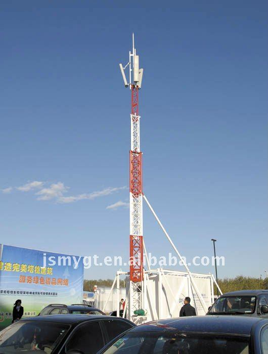 Steel angle antenna mast and communication tower