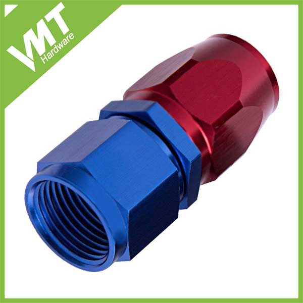 AN6 Blue red straight cutter hose ends