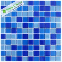 summer hot-sale bright blue swimming pool tile