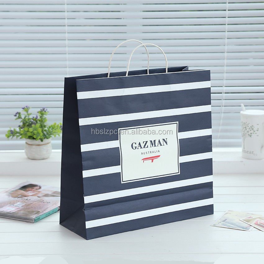 large tatty teddy black white line drawstrings paper gift carrier bag for child papper carrier bag