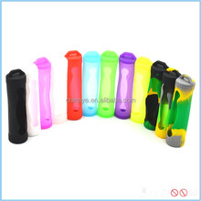 colorful portable ecig batteries carring case single silicone case for 18650 battery
