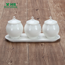 Chaozhou factory white porcelain container jar for food storage