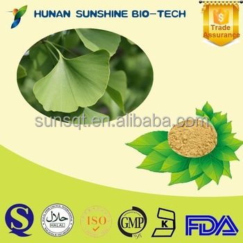 Herbal Raw Material Lower Blood Fat Ginkgo Biloba Leaf Extract