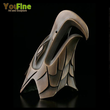 Indoor Life Size Bronze Eagle Head Sculpture