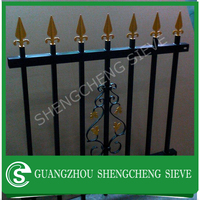 Sale Security Ornamental wrought iron fence Powder Coated garden fence Galvanized Steel Fence