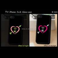 Promotional silicone glowing cell phone case,cell phone cover for iphone 5c