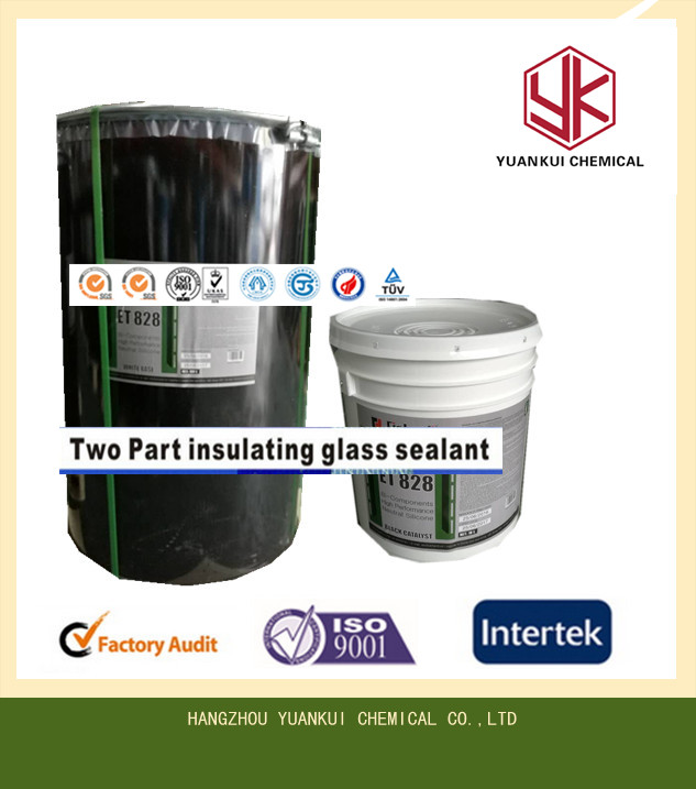 Two component silicone sealant for insulated glass with low price 190L/19L