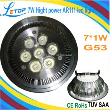 7W High power AR111 Led light 12V G53 base