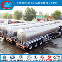 Hot sale 60000 liters Aluminum Fuel Tanker Trailer Dimensions sale in Saudi Arabia