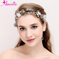 Wedding Tiara Blue Flower and Pearl Party Hair Vine Bridal Hair Band Women Headdress Flower Headpiece Enchanted Dress Prop