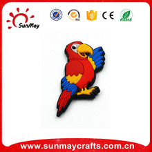 Wholesale parrot animal 3d pvc fridge magnet for sale