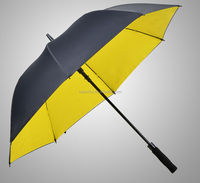 Windproof Straght Double Layer Auto Open Golf Umbrella