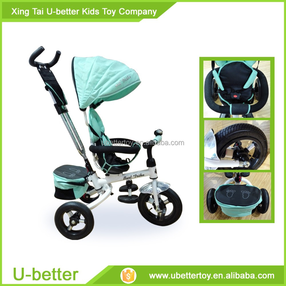 China 3 wheels baby tricycle/360 degree rotation children trike/kid tricycle