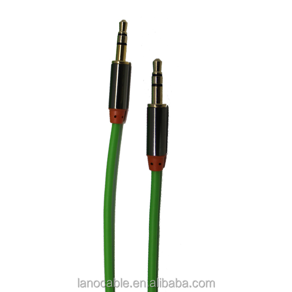 premium hot selling car usb PVC audio jack cable aux cord 3.5mm male to male