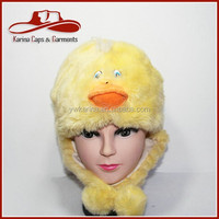 Warm Adult And Children Cartoon Plush Animal Head Hats Winter Protect Ear Hats