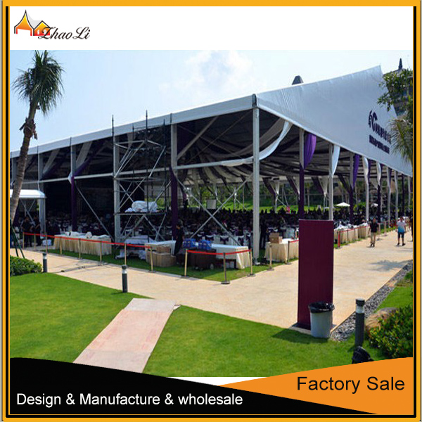 zhaoli white 5x10m PVC wedding party tents with full set of sidewalls