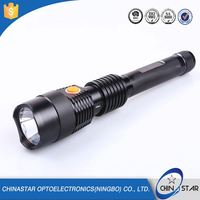 Long Quality Warranty adjustable multifunction police flashlight